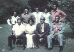 The Smith family, first bottom row left,  Willie James Smith, in the middle Willie Bell Lee Smith, Woodrow Smith Sr., Wo
